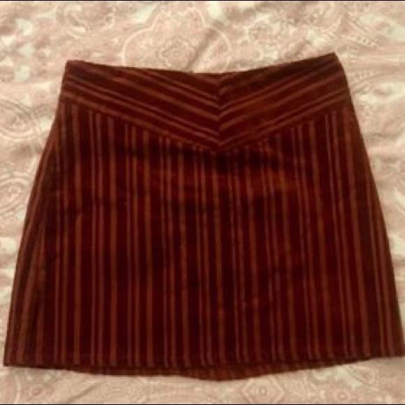 F21 burnt orange autumn mini skirt